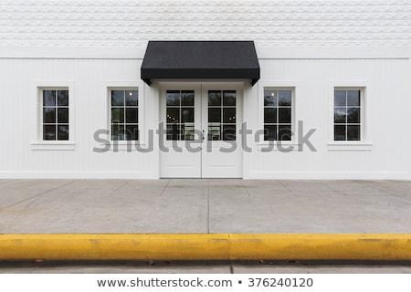 Amarelo parede porta fundo quadro restaurante Foto stock © experimental