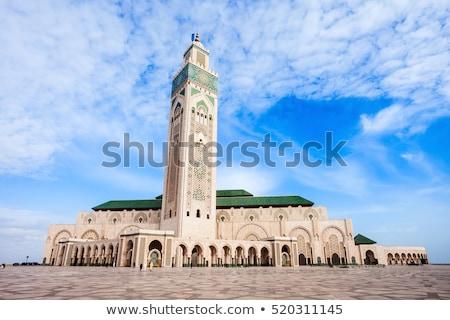 mecset · Casablanca · Marokkó · égbolt · épület · utazás - stock fotó © danielgilbey