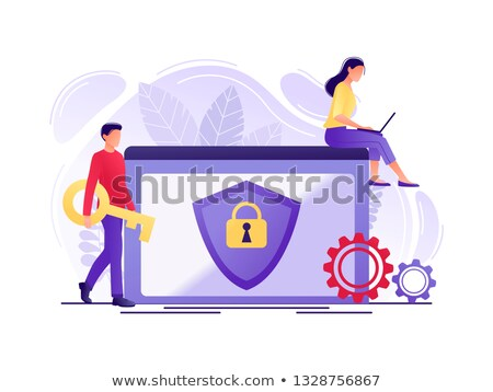 Stock photo: Security concept with file folder and padlock