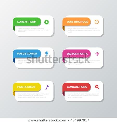 signe · up · vecteur · site · boutons · papier - photo stock © liliwhite