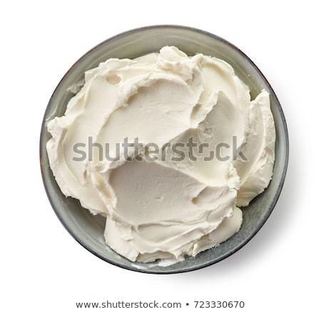 Krem peynir yalıtılmış beyaz mutfak yemek Stok fotoğraf © danny_smythe
