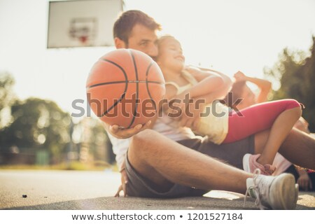 Basket tempo vettore sport grafica squadra Foto d'archivio © squarelogo