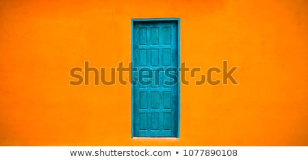 Turuncu mavi sömürge duvar İspanyolca Stok fotoğraf © jkraft5