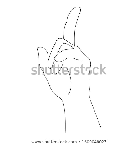 male hand showing number one pointing finger stock photo © len44ik