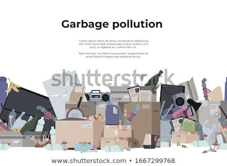 Hegy szemét hulladék szeméttelep helyszín szennyezés Stock fotó © Witthaya
