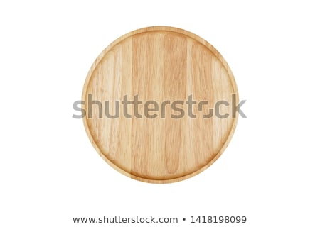 old wooden plate isolated on white stock photo © inxti