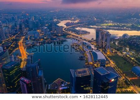 Singapore from above Stock photo © joyr