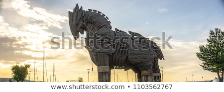 lovas · szobor · császár · sarok · víz · város - stock fotó © snapshot