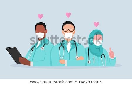 Médico dibujo arte feliz Cartoon Foto stock © indiwarm