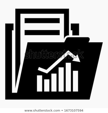 Wykres biznesowych wykres folderze projektu bar kolor Zdjęcia stock © 4designersart