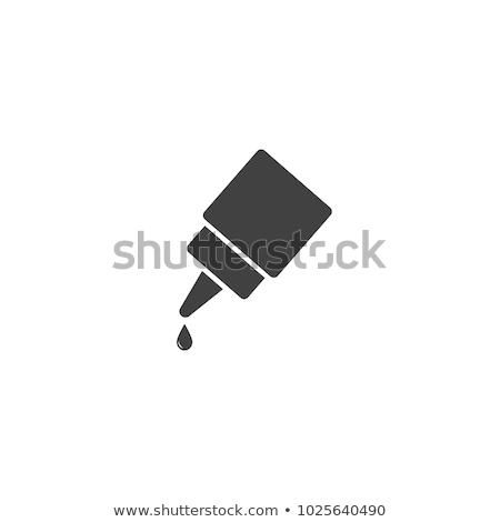 Vector icon lijm kind kantoorwerk Stockfoto © zzve