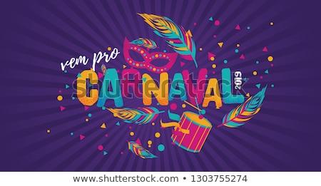 Szamba táncos kép zászló tollak összeillő Stock fotó © eldadcarin