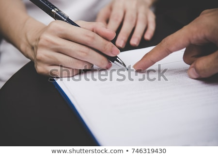 Signed Document Stock photo © cteconsulting