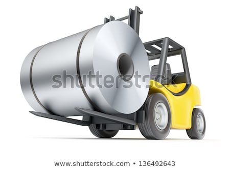 Forklift with rolls of steel sheet Stock photo © mady70