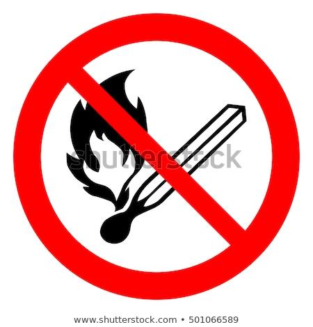 No Fires Sign Stock photo © pancaketom