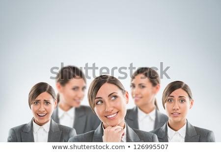 Csoport üzlet nők különböző érzelmek nő Stock fotó © HASLOO
