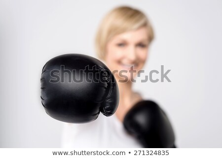 Isolated Tough Woman Stock photo © eldadcarin