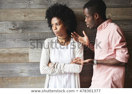 angry couple, isolated on white Stock photo © dacasdo