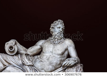 river tiber sculpture in the vatican museum rome italy stock photo © antartis