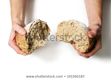Main pain pain alimentaire rétro Photo stock © Massonforstock