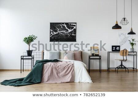 warm · interieur · houten · brandend · kachel - stockfoto © paha_l