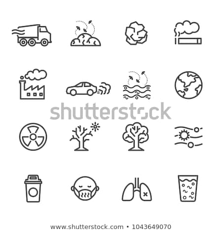 environmental pollution icons stock photo © carbouval