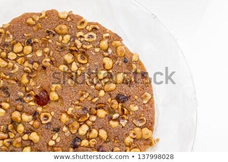 Egyiptomi desszert diók étel kávézó méz Stock fotó © giko