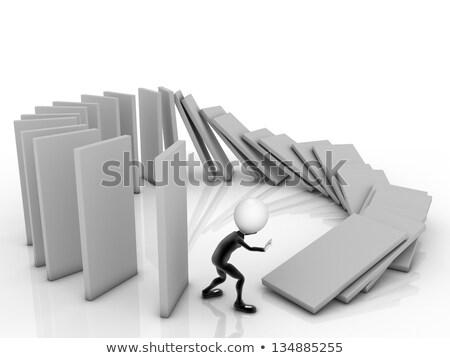 3D zakenman achtergrond groep zwarte Stockfoto © dacasdo