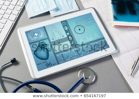 medical tablet with stethoscope Stock photo © neirfy