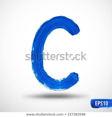 Buchstaben c Wasserfarbe Jahrgang Papier Schule Kunst Stock foto © tungphoto