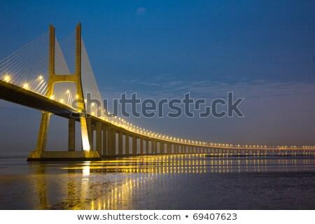 ガンマ · 橋 · リスボン · 市 · 水 · 建物 - ストックフォト © vwalakte