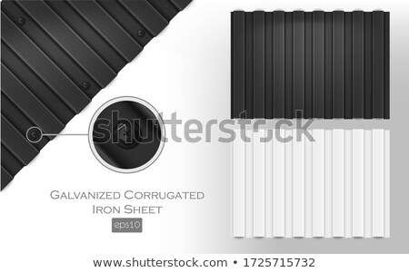 Corrugated Metal with fencing Stock photo © befehr
