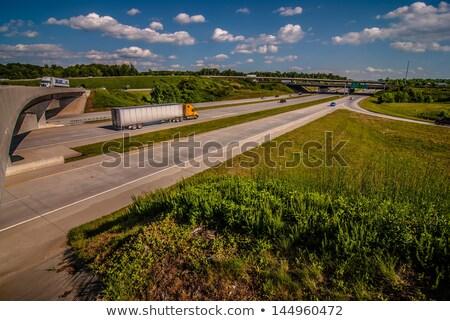 Trevo folha sair rodovia cidade Foto stock © alex_grichenko