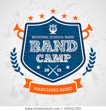 Stock photo: Band camp emblem