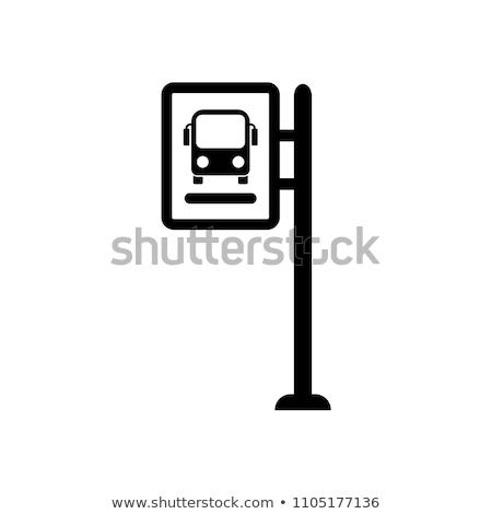 Ikona przystanek autobusowy autobus ziemi ilustracja Zdjęcia stock © zzve