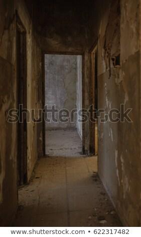Eseguire giù concrete labirinto seminterrato Foto d'archivio © silkenphotography