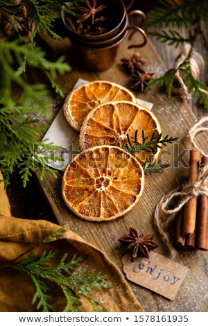 Kurutulmuş turuncu tarçın star anason Stok fotoğraf © M-studio