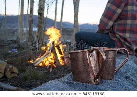 Campo fuoco fuori freddo Foto d'archivio © Laks