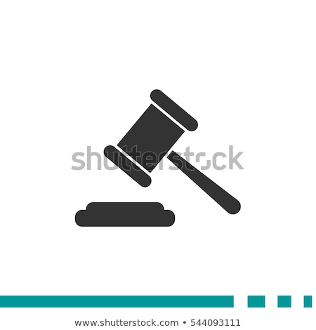 Legal, justice and court icons Stock photo © soleilc