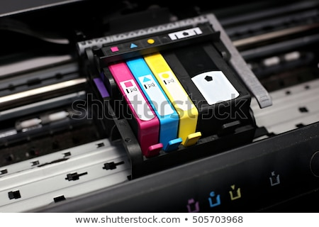 Inkjet cartucho de impressora branco isolado projeto Foto stock © pxhidalgo