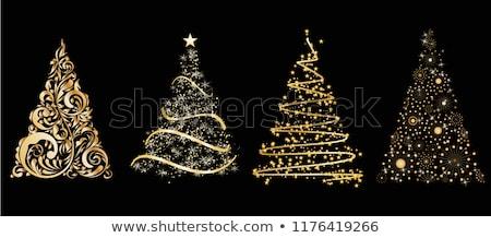 gold contour fir-tree Stock photo © Spanish
