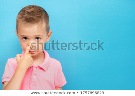 Kid picking Nose Stock photo © icefront