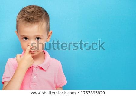 Kid носа смешные мало мальчика Сток-фото © icefront
