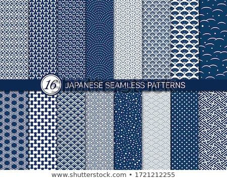 seamless retro japanese pattern texture stock photo © creative_stock