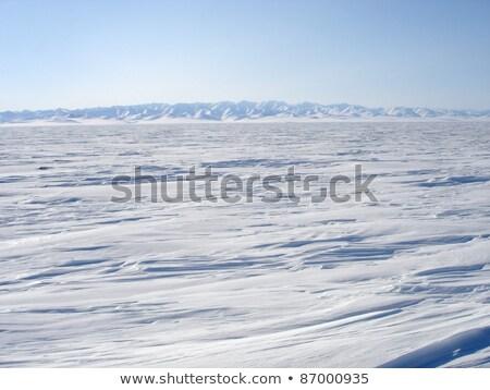 Sarkköri tájkép égbolt víz természet hó Stock fotó © marekusz
