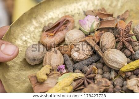 Terreno tempero Marrocos comida mão Foto stock © haraldmuc