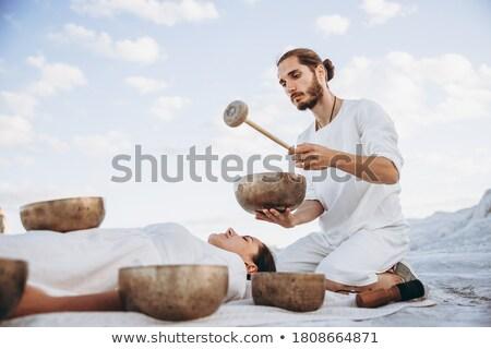 Stock photo: Meditation In Desert