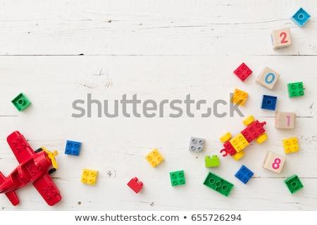 Szó gyermek kockák fotó fehér gyerekek Stock fotó © Marfot