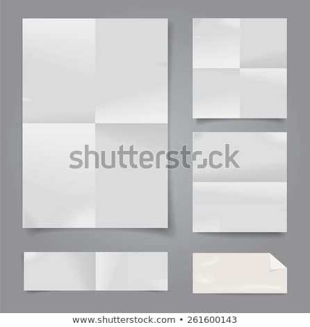 folded paper template Stock photo © unkreatives