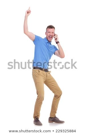 Сток-фото: Man Yelling Over The Phone